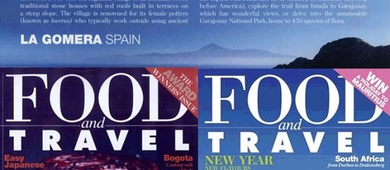 "Los sabores de La Gomera protagonistas en la revista inglesa ""Food and Travel"""